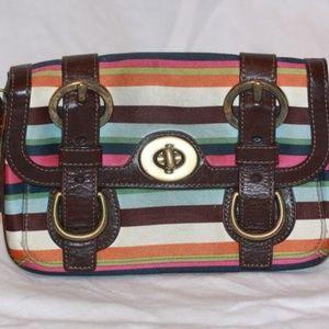 COACH MULTI-COLORED PURSE Handbag Clutch 41830